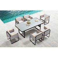 Outdoor Dining Set (6 Chairs) | Higold Airport