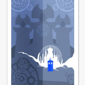 Doctor Who Gallifrey Poster Print A4