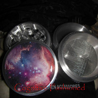 Star Galaxy Space 4 Piece Grinder Herb Spice Aircraft Grade Aluminum C.N.C from Cognitive Fashioned