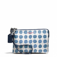BLEECKER SMALL WRISTLET IN PAINTED DOT COATED CANVAS