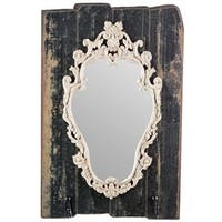 Black Ornate Shield Wall Mirror with Hooks | Shop Hobby Lobby