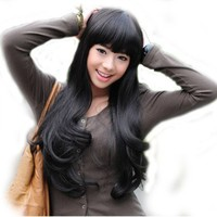 """Cool2day® Sexy 26"""" Long Curly Highlights Hair Party Wig+wig Cap (Black) (Model: Jf010269)"""
