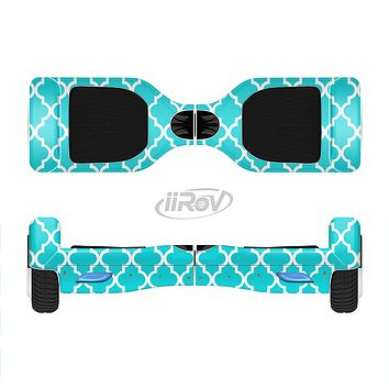 The Morocan Teal Pattern Full-Body Skin Set for the Smart Drifting SuperCharged iiRov HoverBoard