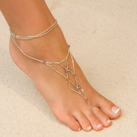 Foot Jewelry - Celtic Design, Glass Beaded with Crystals - Island Importer