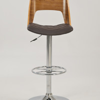 Brown Plywood Open Back Pneumatic Stool