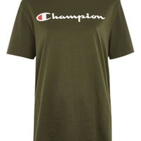 Green Logo T-Shirt by Champion | Topshop