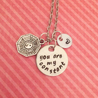 You Are My Constant Lost Tv Show Necklace - Fandom Jewelry - Fandom Necklace - Dharma Initiative Jewelry