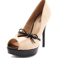 Patent Bow Peep-Toe Pump: Charlotte Russe