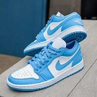 NIke Air Jordan 1 Low WMNS UNC Sneakers Shoes