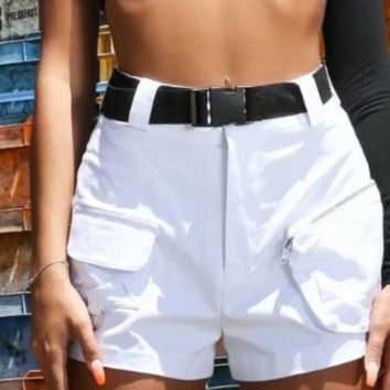 The new cargo shorts come with a free belt