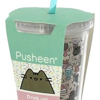 Pusheen® Beaker with Straw Accessory with book – April 4, 2017