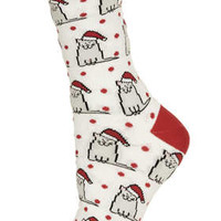 Christmas Cat in a Hat Socks - New In This Week  - New In