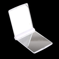 White Compact Cosmetic Mirror with 8 LED Lights
