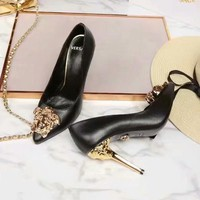 Versace Women Fashion Casual Pointed Toe High Heels Shoes-15