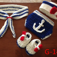 Newborn Baby Girls Boys Crochet Knit Costume Photo Photography Prop = 4457617860