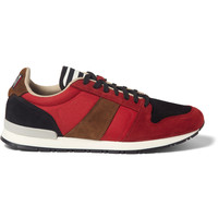 AMI - Suede and Mesh Panelled Sneakers | MR PORTER