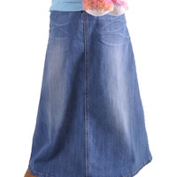 Say Hello Girl Jean Skirt # GL-0396