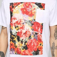 Floral Skeleton Pocket Tee - Urban Outfitters