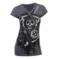 Sons of Anarchy Fear the Reaper Deep V-Neck Women's T-Shirt