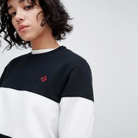 Converse Cons Skate Sweatshirt In Black And White at asos.com