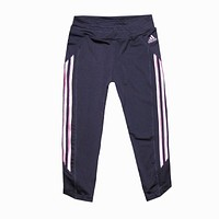 Trendsetter Adidas Woman Casual Gym Sport Yoga Embroidery Pants Trousers Sweatpants