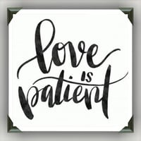 """Love is Patient  Painted/Decorated 12""""x12"""" Canvases - you pick colors"""