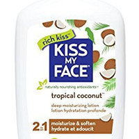 Kiss My Face Natural Moisturizer with Coconut Oil, Body Lotion, 16 Ounce