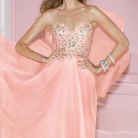 Strapless Chiffon Gown by Alyce Prom