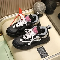 Off-white  Men popular Boots popularable Casual leather Breathable Sneakers Running Shoes