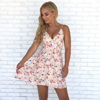 Love Game Floral Mini Dress
