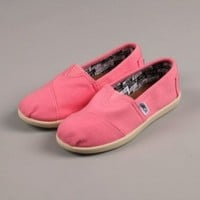 Toms Classic Canvas Pink Kids Trainers 12 US