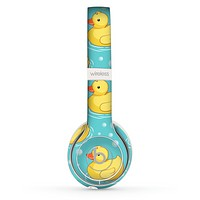 The Cute Rubber Duckees Skin Set for the Beats by Dre Solo 2 Wireless Headphones