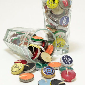 50 Beer Party Bottle Cap Candle Favors