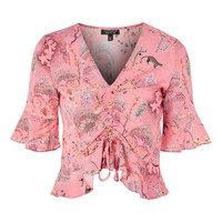 Ruched Front Magical Print Top - New In Fashion - New In