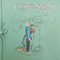 Vintage 50s WESTAB Clips 'N Snips Scrapbook Featuring Emmy Lou and Alvin Comic Illustration by Marty Links