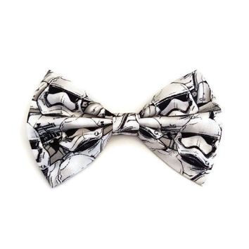 Stormtrooper Hair Bow • Star Wars Fabric Bow • Storm Trooper Bow • Dark Side gift • Women's Fashion • Gifts For Women • Star Wars Gift