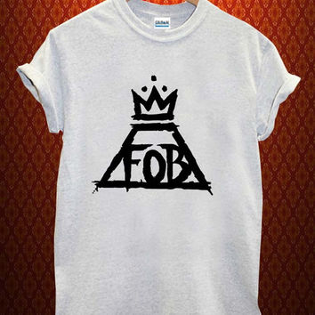 Fall out Boy logo Music tee Ash Grey t Shirt Men and Women T Shirt more size available