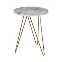 Graham Hill Accent Table in Marble