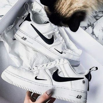 Nike Air Force 1 AF1 new couple gradient tie-dye low-top sneakers shoes