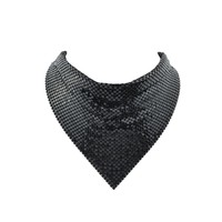 Black Color Shiny Chunky Statement Collar Necklaces