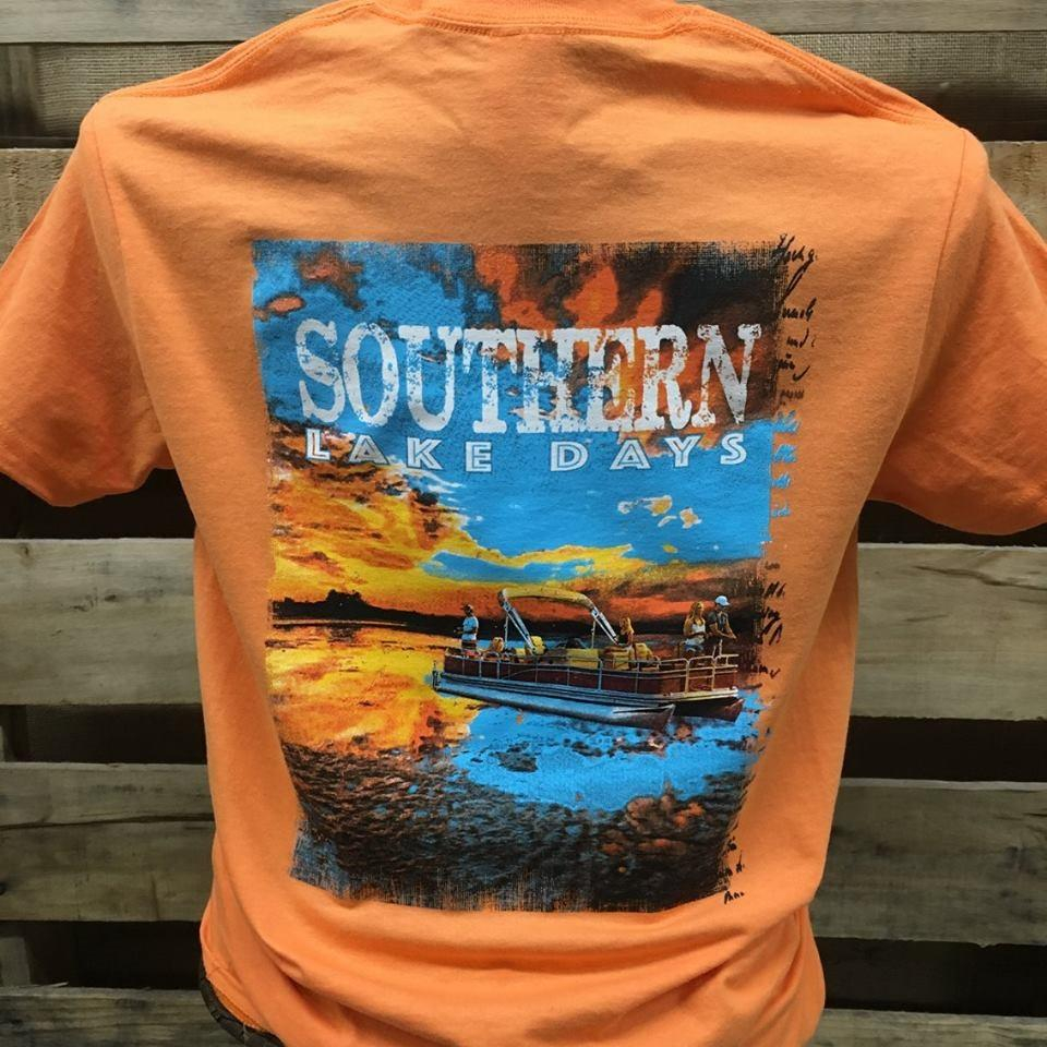 Image of South Waters Southern Lake Days Boat Fishing Unisex Bright T Shirt