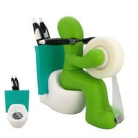 RICSB 'The Butt' Office Supply Station Desk Accessory Holder, Green