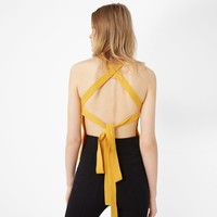 Wrap back top