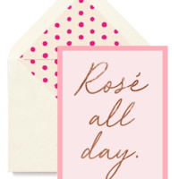 Rose All Day Greeting Card, Single Folded Card or Boxed Set of 8