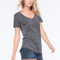 Others Follow Womens Pocket Tee Black  In Sizes