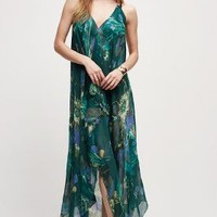 Palm Island Scarf Dress by Anthropologie in Green Motif Size: One Size Dresses
