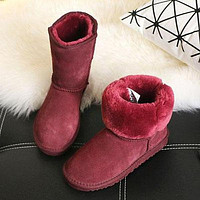 Ugg Boots Sell Well For Women With Velvety Mid-barrel Snow Boots Shoes