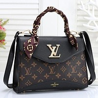 LV Women Fashion Scarf Handbag Crossbody Satchel