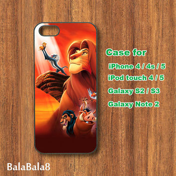 THE LION KING - iPhone  4 case, iphone 5 Case,iPod  touch 4 case , iPod touch 5 case , Samsung Galaxy S3 , S2 case