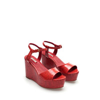 LACQUERED WEDGE - Stock clearance - Woman - Sale   ZARA United States